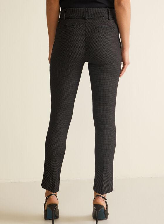 Pantalon à jambe étroite et motif de mailles , Noir