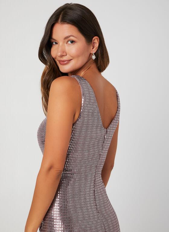 Short Sequin Sheath Dress, Purple