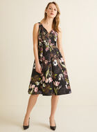 Floral Jacquard Dress, Black