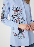 Simon Chang - Striped Floral Print Shirt, Blue, hi-res