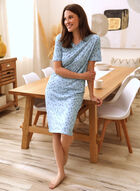 Cat Print Nightgown, Blue