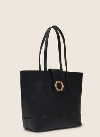 Lot de 3 sacs à main en similicuir, Noir,  sac à main, fourre-tout, pochette, cartable, similicuir, hexagonal, printemps été 2020