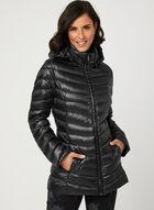 Lightweight Packable Down Coat, Black, hi-res