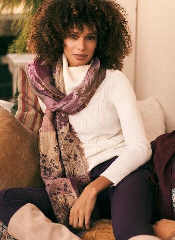 Pull à col rabattu en tricot côtelé, Blanc,  automne hiver 2020, pull, tricot, chandail, manches longues, côtelé