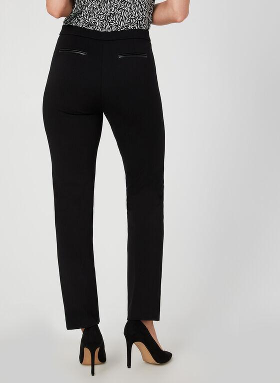 Pantalon à jambe droite coupe signature, Noir