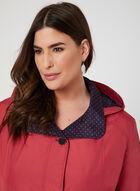 Fennelli - Manteau droit à doublure pois, Rouge, hi-res