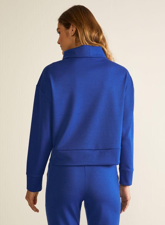 Cowl Neck Long Sleeve Top, Blue