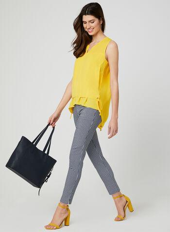 Elena Wang - Sleeveless Tunic Blouse, Yellow, hi-res