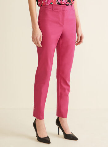 City Fit Straight Leg Pants, Pink,  pants, spring pants, summer pants, straight leg, mid rise pants, spring 2020, summer 2020