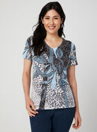 Abstract Print T-Shirt, Blue