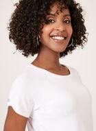 Raglan Cap Sleeve T-Shirt , White, hi-res