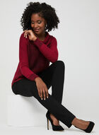 Cowl Neck Knit Sweater, Red, hi-res