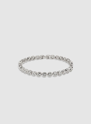 Bracelet à cristaux, Argent, hi-res
