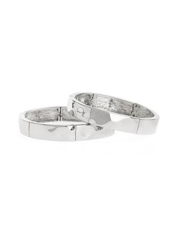 Set of Metal Stretch Bracelets, , hi-res