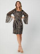 Cape Sleeve Dress, Black