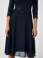 Sequin Lace Dress, Blue, hi-res