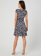 Leaf Print Jersey Dress, Blue, hi-res