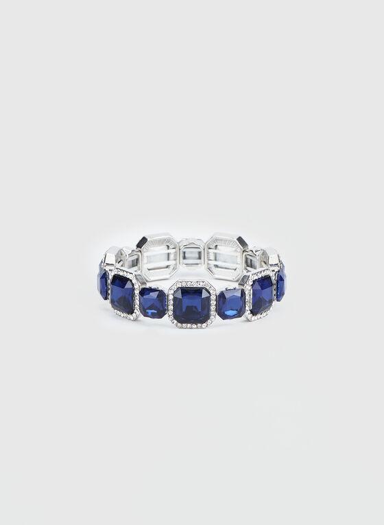 Rhinestone & Crystal Embellished Bracelet, Blue