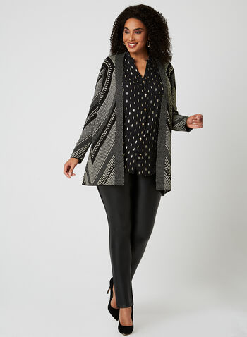 Lily Moss - Chiffon Button Down Tunic, Black, hi-res
