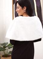 Short Faux Fur Wrap, Off White