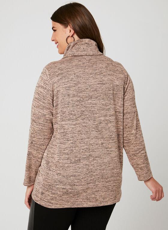 Linea Domani - Pull tunique style enveloppe, Brun, hi-res