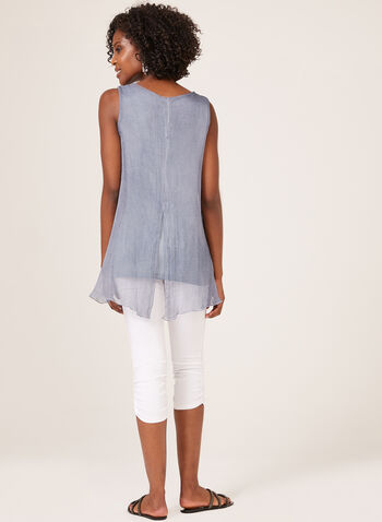 Ness - Sleeveless Layered Top, Blue, hi-res