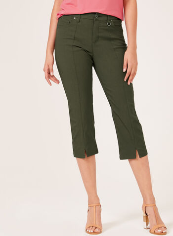 Simon Chang –Signature Fit Straight Leg Capri, Green, hi-res