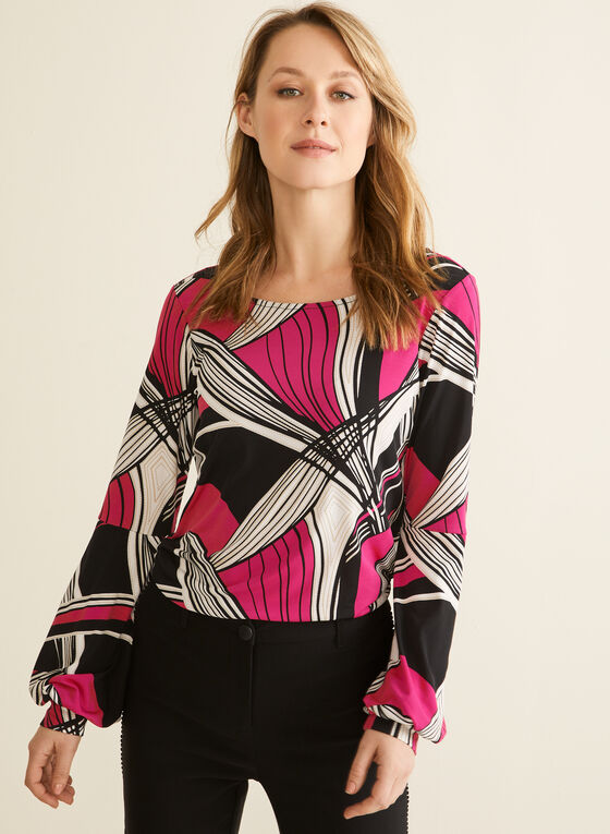 Balloon Sleeve Top, Multi