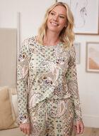 Paisley Print Pyjama Top, Green