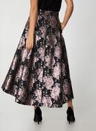 Floral Brocade Skirt, Black