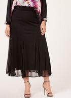 A-Line Maxi Skirt, Black, hi-res