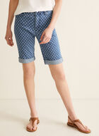 Simon Chang - Polka Dot Denim Capris, Blue