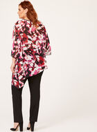 Sheer Floral Print Poncho Blouse, Multi, hi-res