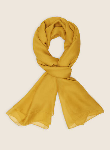 Monochrome Lightweight Scarf, Yellow,  scarf, lightweight, chiffon, monochrome, spring summer 2020