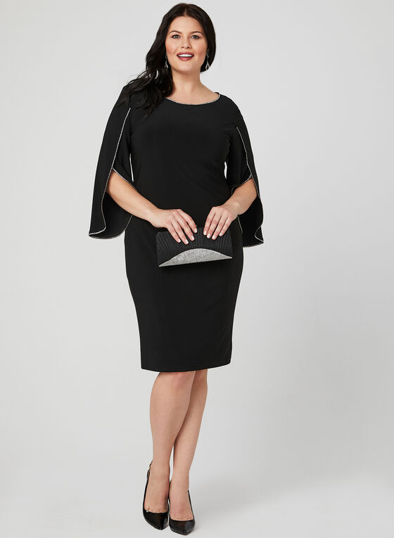 Joseph Ribkoff - Tulip Sleeve Dress, Black, hi-res