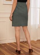 Mini Motif Pencil Skirt, Black