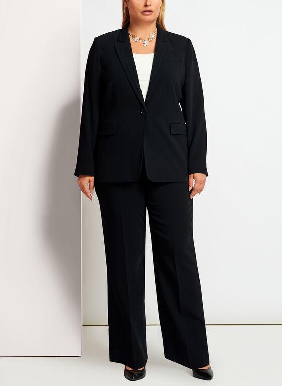 Louben - Pantalon coupe moderne à jambe droite , Noir, hi-res