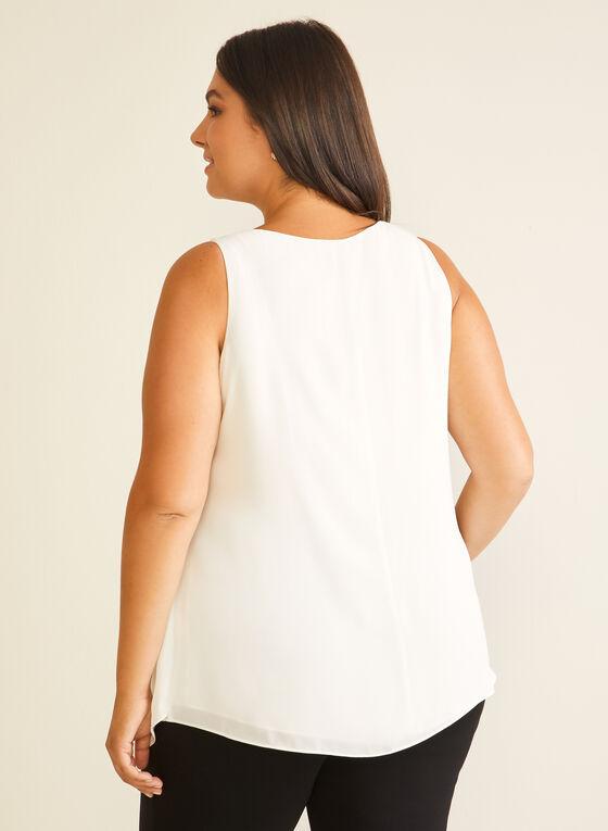 Sleeveless Layered Blouse, White