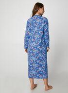Hamilton - Floral Print Cotton Nightgown, Blue