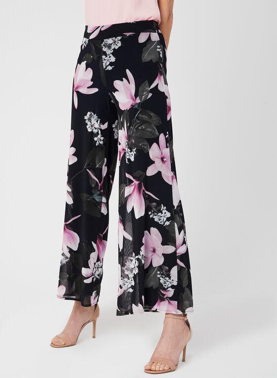 Modern Fit Floral Print Pants, Blue, hi-res