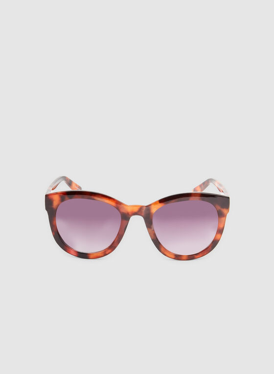 Animal Print Sunglasses, Brown, hi-res