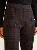 Tartan Print Slim Leg Pants, Red