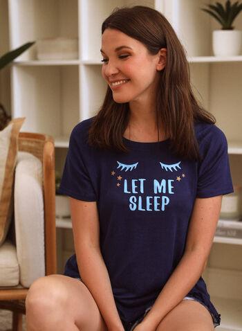 Printed Pyjama Set, Blue,  spring summer 2021, pajamas, PJs, sleepwear, bedtime, 2 piece, pull on, boat neck, crew neck,