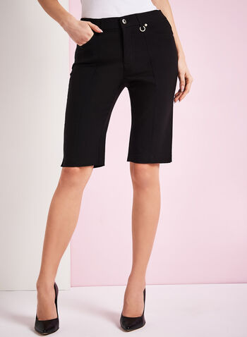 Simon Chang Microtwill Bermuda Shorts, Black, hi-res
