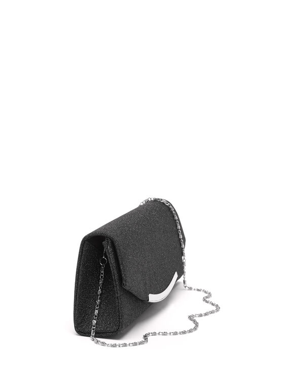Flapover Evening Clutch, Black, hi-res