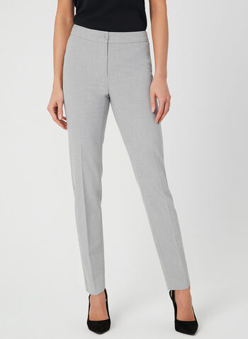 Modern Fit Straight Leg Pants, Grey, hi-res,