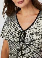 Hamilton - Geometric Print Nightgown, Black
