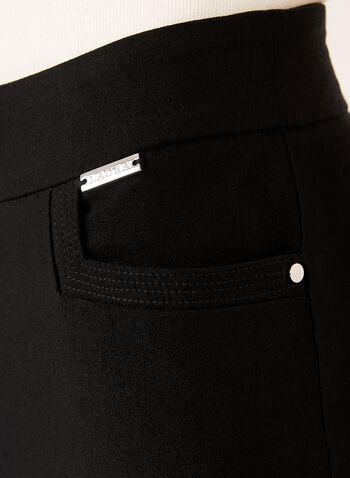 Straight Leg Bengaline Pull-On Pants, Black, hi-res