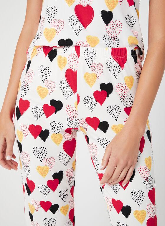 Hamilton - Pyjama 2 pièces à imprimé de cœurs, Blanc