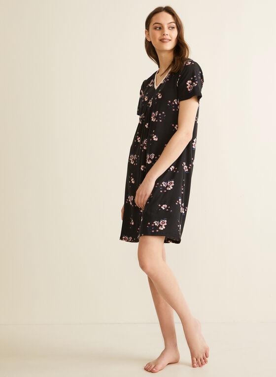 Comfort & Co. - Chemise de nuit à manches courtes, Noir